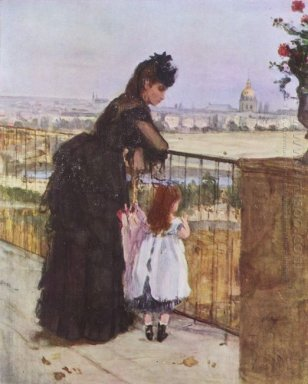 Woman And Child On The Balcony