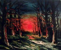 Sunset In The Forest Of Senoches