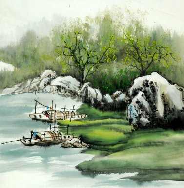 Boats - Chinese Painting