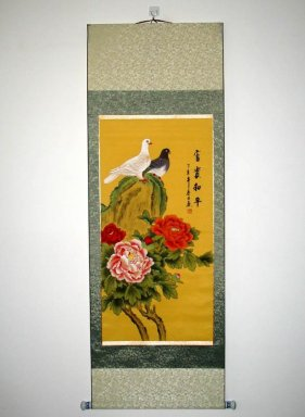 Flowers, Birds - Mounted - Chinese Painting