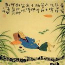 Drunk man - Chinese painting
