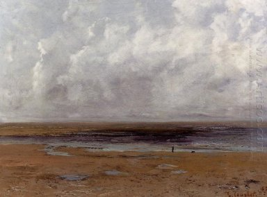 The Beach At Trouville At Low Tide 1865 1