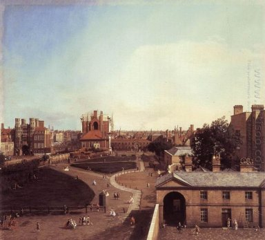 london whitehall and the privy garden from richmond house 1747