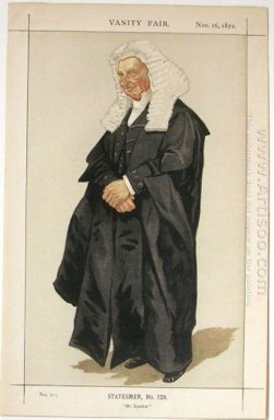 Statesmen No 1290 Caricature Of The Rt Hon Hbw Brand M P