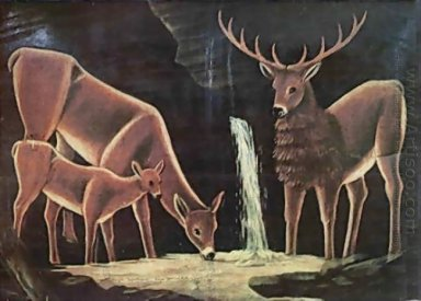 The Family Of Deer 1917