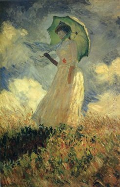 Woman With A Parasol Also Known As Study Of A Figure Outdoors Fa
