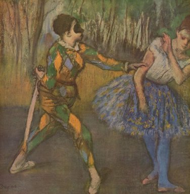 harlequin and colombina 1886