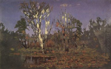 a grove with birch
