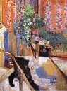Interior With Flowers 1919