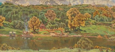 View Of Moscow From The Vorobyovy Hills 1910