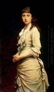 Portrait Of Sophia Ivanovna Kramskoy Daughter Of The Artist 1882
