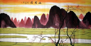 Sunset - Chinese Painting