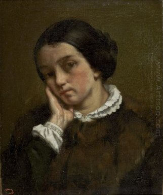 Portrait Of Zélie Courbet 1847
