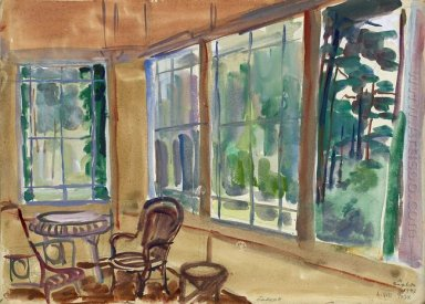 Balcony On The Estate Of Marshal Ivan Bagramian 1947