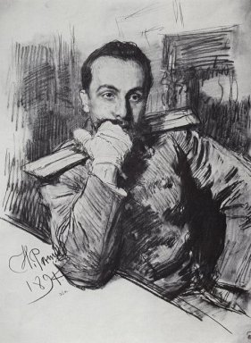 Portrait Of V A Zhirkevich 1891