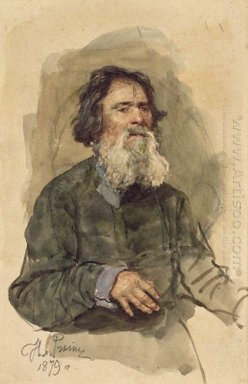 Portrait Of A Bearded Peasant 1879