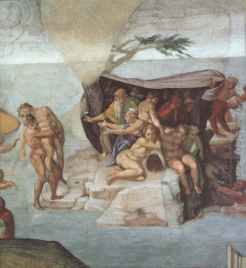 Ceiling Of The Sistine Chapel Genesis Noah 7 9 The Flood Right V