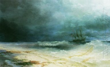 Ship In A Storm 1895