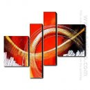 Hand-painted Oil Painting Abstract Landscape - Set of 4