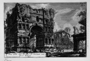 The Roman Antiquities T 1 Plate Xxi Arch Of Janus 1756