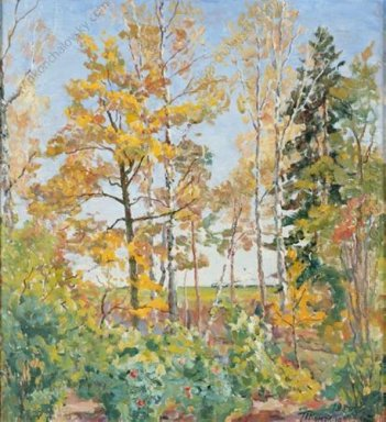 Autumn Landscape With Train 1955