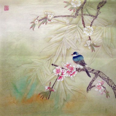 Peach Blossom&Birds - Chinese Painting