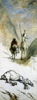 Don Quijote Sancho Pansa And The Dead Mule 1867