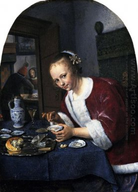 Girl Eating Oysters 1660