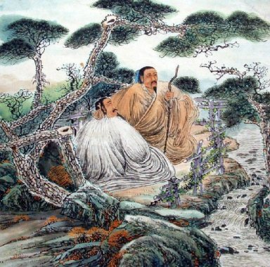 Gaoshi under the pines-Chinese Painting
