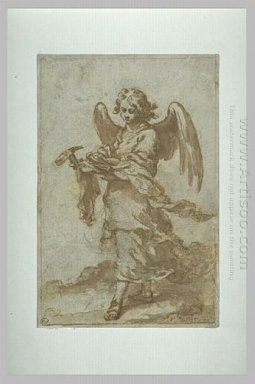 Angel Holding A Hammer And Nails 1660