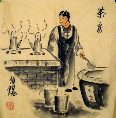 Old Beijingers, tea house - Chinese painting