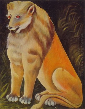 Sitting Yellow Lion