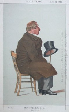 Caricature Of Percy William Doyle C B