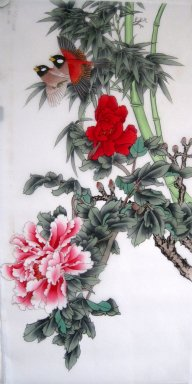 Bamboo&Birds&Flowers - Chinese Painting