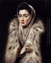 Een Dame in een Fur Wrap 1577-80