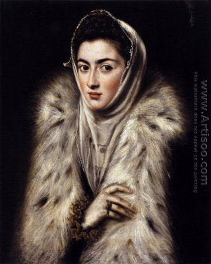 A Lady in a Fur Wrap 1577-80