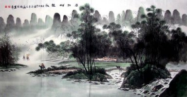 Quiet forest - Chinese Painting