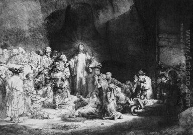 The Little Children Being Brought to Jesus, The 100 Guilder Pri