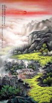 Ancient mountain home - Chinese Painting