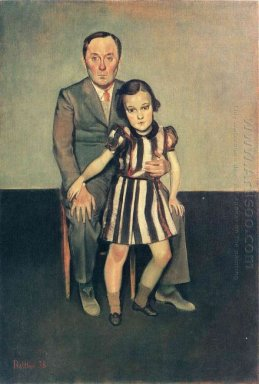 Joan Miro And His Daughter Dolores 1937