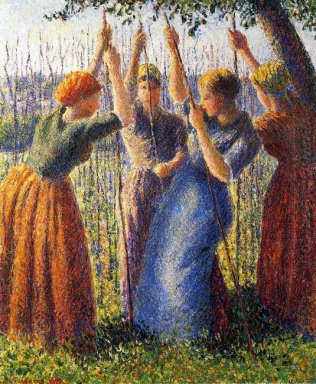 peasant women planting stakes 1891