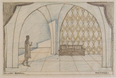 Stage Design For The Minutes Of Love By Edward Bauersfeld