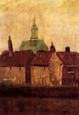 Cluster Of Old Houses With The New Church In The Hague 1882