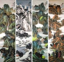 Four seasons - Chinese Painting