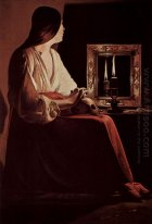 Repenting Magdalene Also Called Magdalene And Two Flames 1643