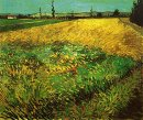 Wheat Field With The Alpilles Foothills In The Background 1888