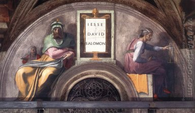 Lunette XI Jesse David And Solomon Sistine Chapel