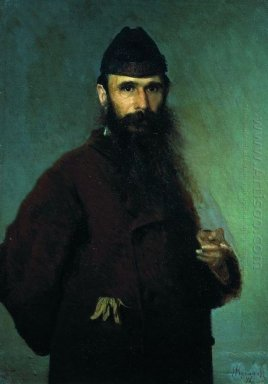 Portrait Of The Artist Alexander Dmitrievich Litovchenko 1878