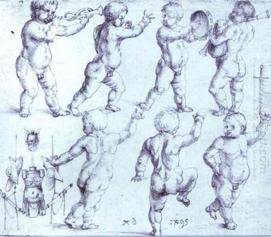 putti dancing and making music 1495