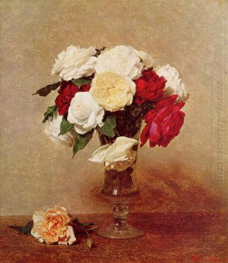 Roses In A Stemmed Glass 1890